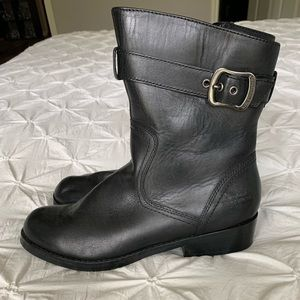 Genuine leather riding boots
